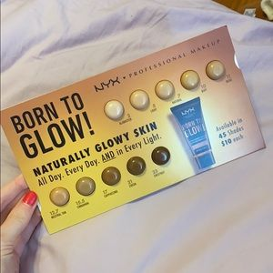 NYX Born to Glow! Foundation sample set -10 shades